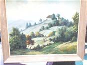 TWARDY Painting OIL PAINTING GERMAN VILLAGE FRAMED 39X25